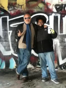 Author David Allee with legal Indianapolis street artist