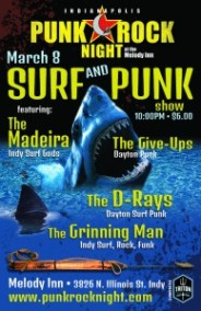 Indianapolis Punk Rock Night at the Melody Inn March 8th 2014 Madeira, Give-Ups, D-Rays, Grinning Man