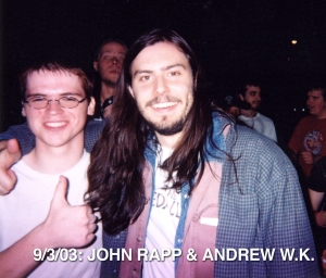 John Rapp and Andrew W.K. at the Metro in Chicago, 2003