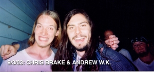 Chris Brake and Andrew W.K. at the Metro in Chicago