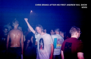 Club Metro in Chicago, 2003 - Chris Brake at Andrew W.K. Show