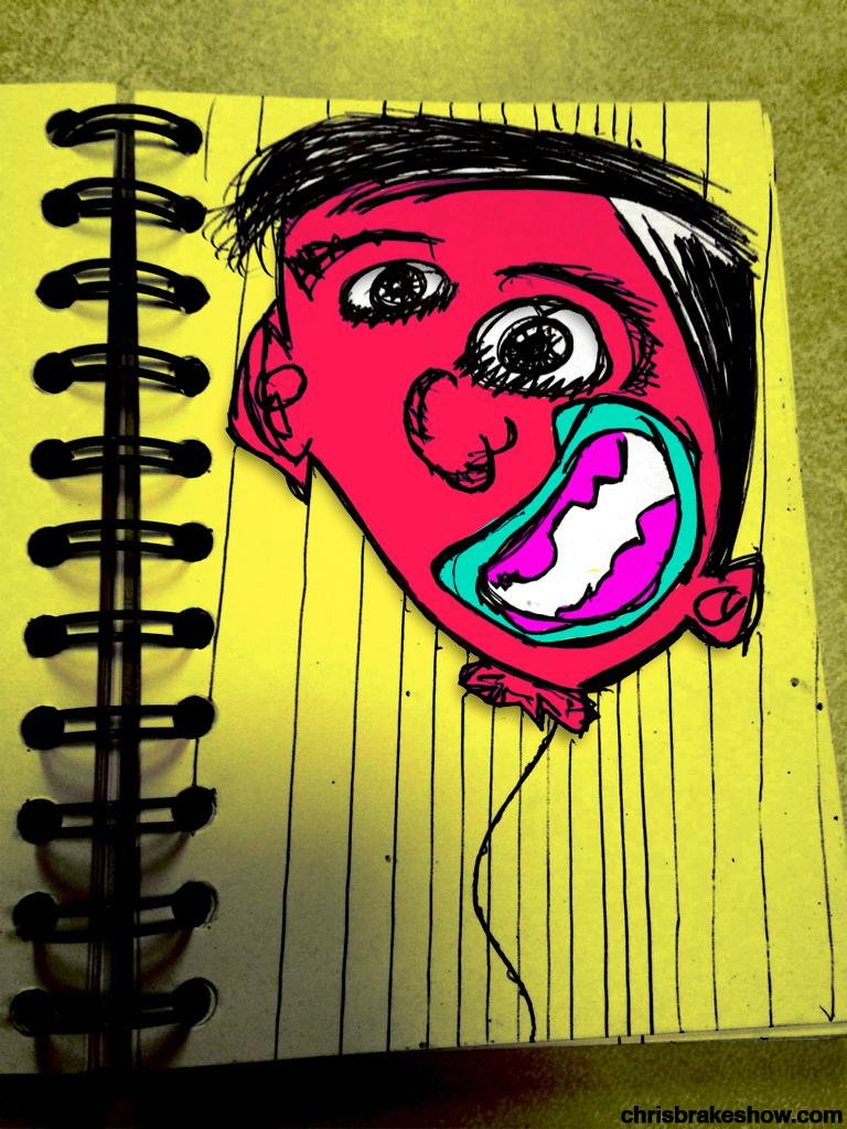 Balloon Boy Brother | Chris Brake's Daily Doodle