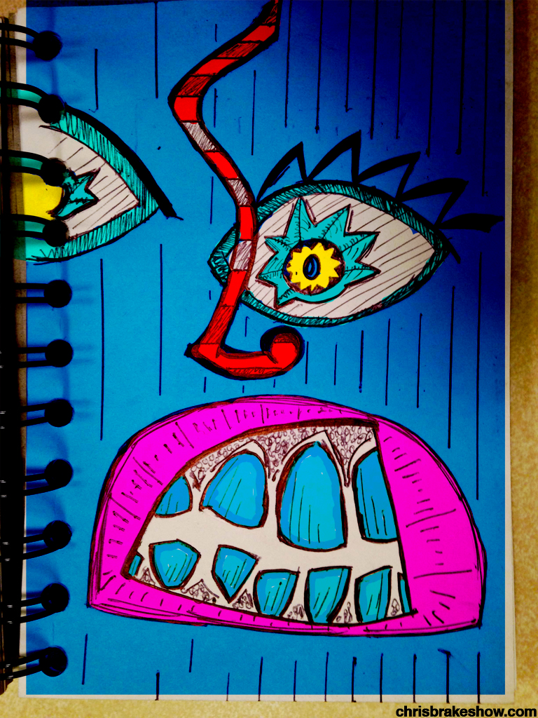 Biting Midnight's Lips   Chris Brake's Daily Doodle