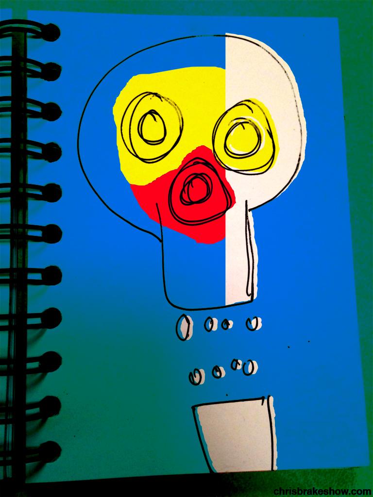 Bone Flags USA Skull | Chris Brake's Daily Doodle