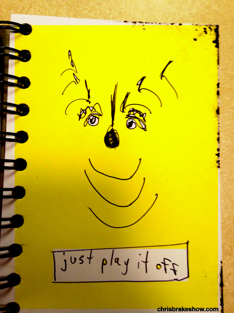 Just Play It Off | Chris Brake's Daily Doodle