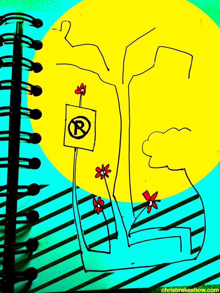 Sunshine Parking | Chris Brake's Daily Doodle