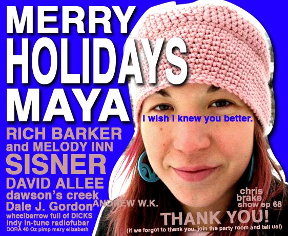 Merry Christmas Maya Maloff, Rich Barker, David Allee, Dawson's Creek
