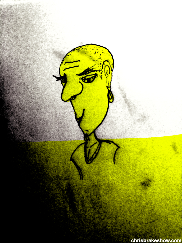 Black And Yellow | Chris Brake Daily Doodle