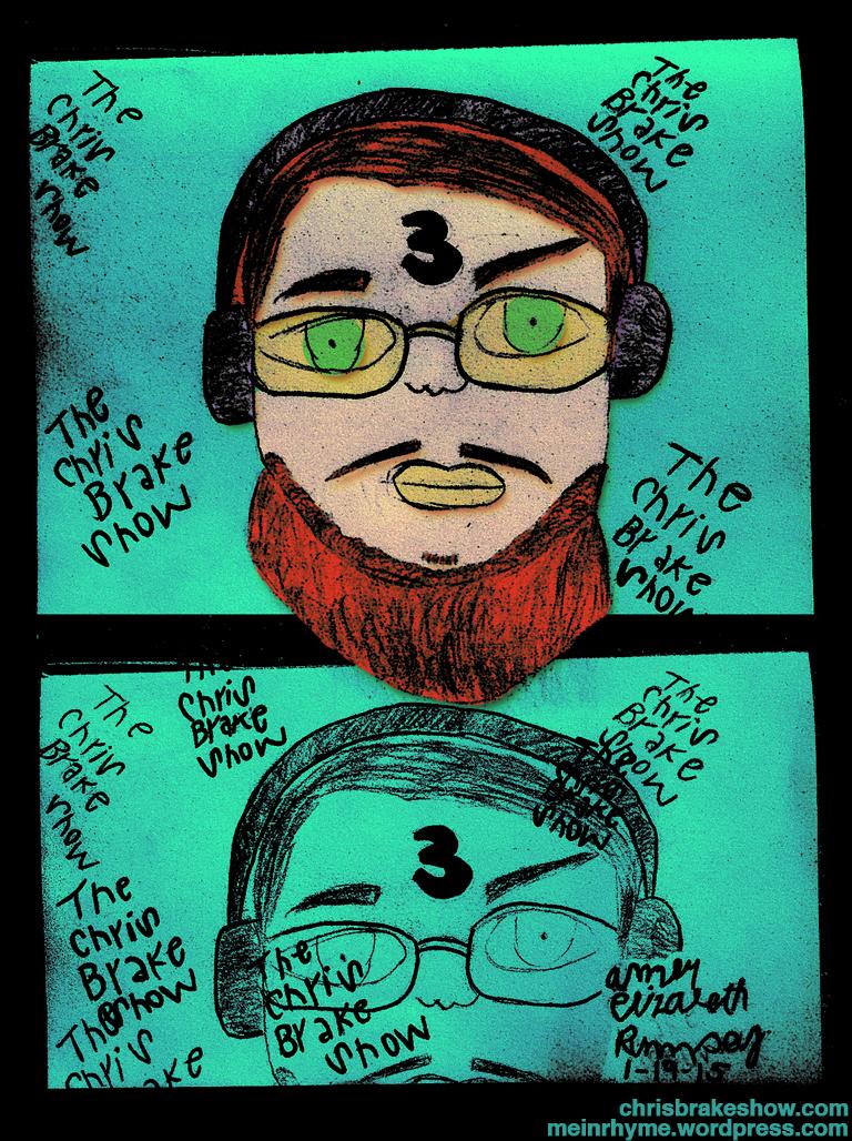 John / Chris By Amber Elizabeth | Chris Brake Daily Doodle