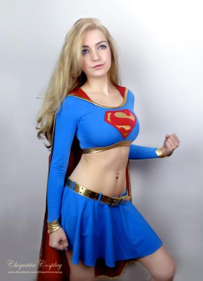 Non-slutty Supergirl Cosplay Costume