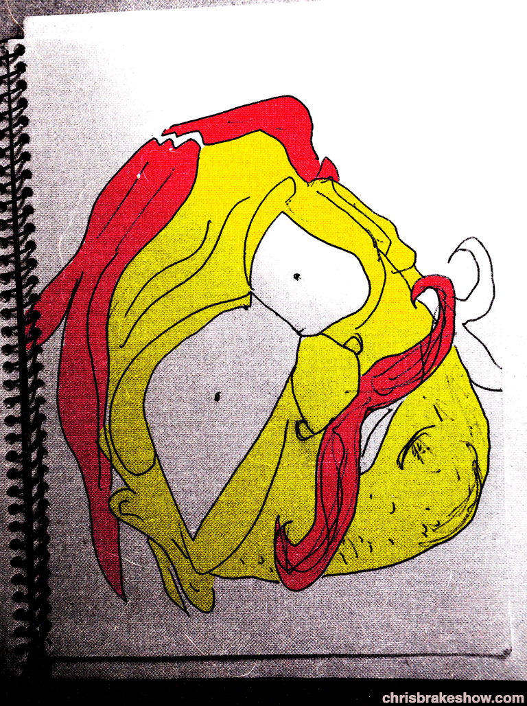Big Eyestache | Chris Brake Daily Doodle