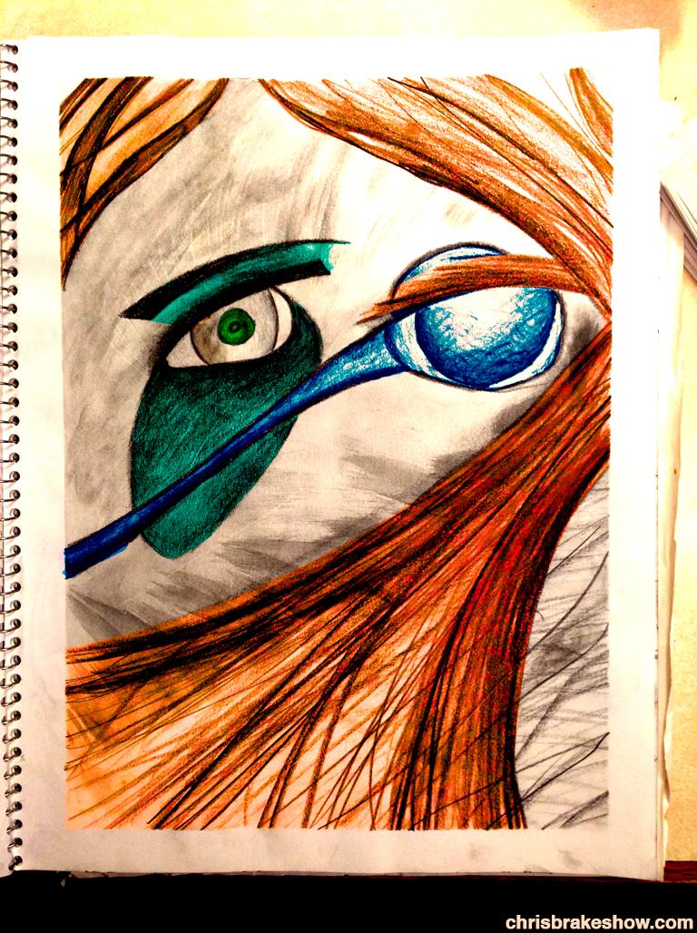 Eye Pencil | Chris Brake Daily Lotuscast Doodle