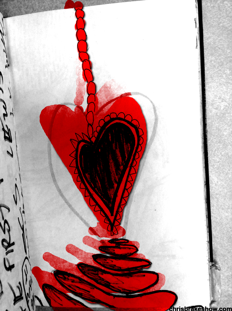 Half Heart Drip Thing | Chris Brake Daily Doodle