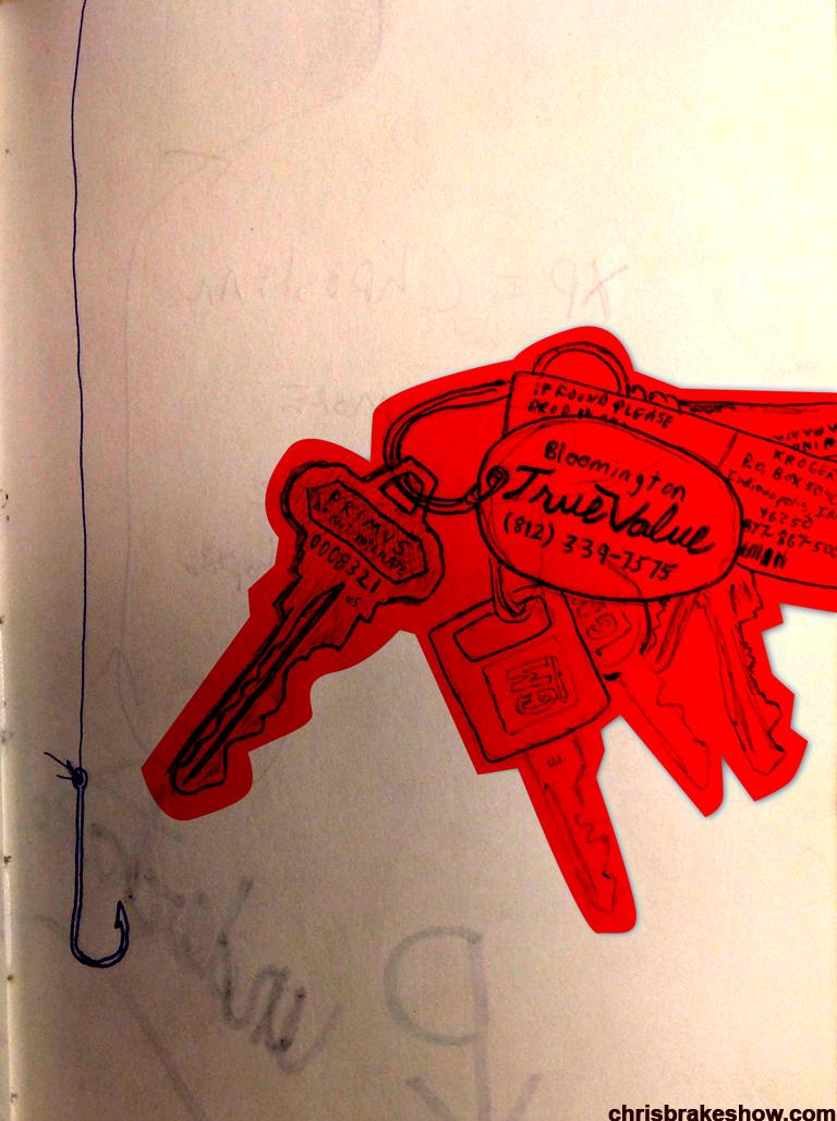 Keys | Chris Brake Daily Doodle