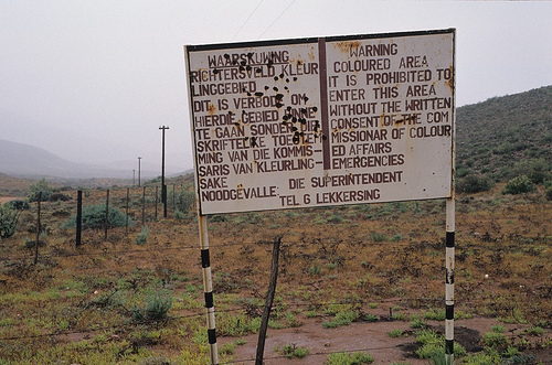 South African Apartheid Sign | Captain Tonz didn't see this