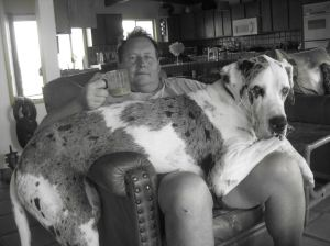 Chad C. Meek and Giant Dog