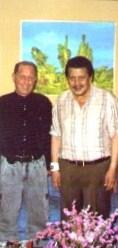 President Joseph Estrada, Philippines with Captain Anthony Tonz Cummins