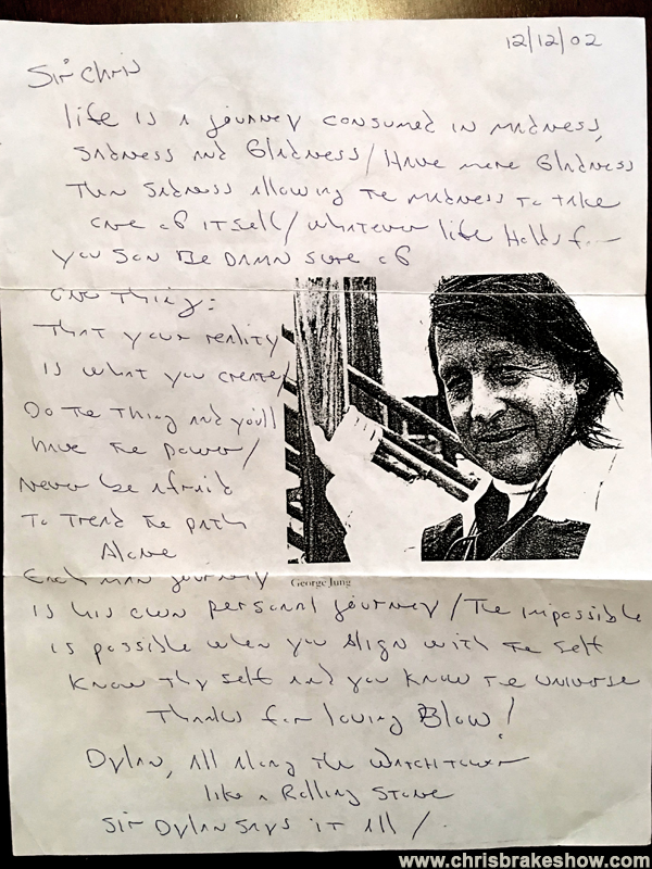 Hand-Written Letter from George Jung