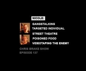 137-Nicole-Gangstalking-TI-Targeted-Individual-v2k-interview-Chris-Brake-Show-Strange-Label-Indy-In-Tune