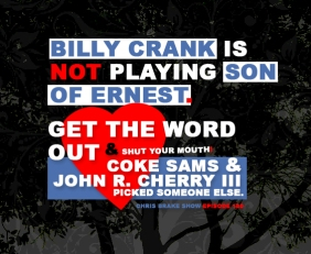 Billy Crank Again Tells Us He Is Not The New Ernest P Worrell | CB180